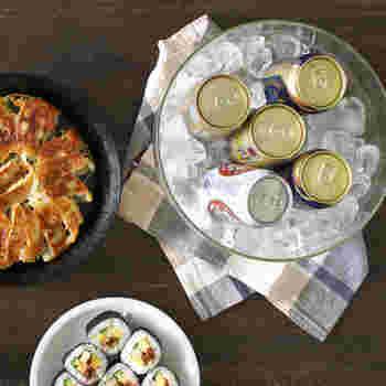 耐冷温度もマイナス35℃なので、テーブルに置いて飲み物を冷やしておくのも良さそう。特にガラスボウルのLは、容量が4000mlなので、ホームパーティーにあると重宝しそう。