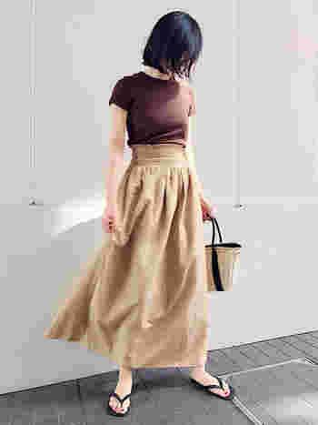 ワイドパンツ&ロングスカートをすっきり着こなすには?《ハイウエスト》を選びましょ
