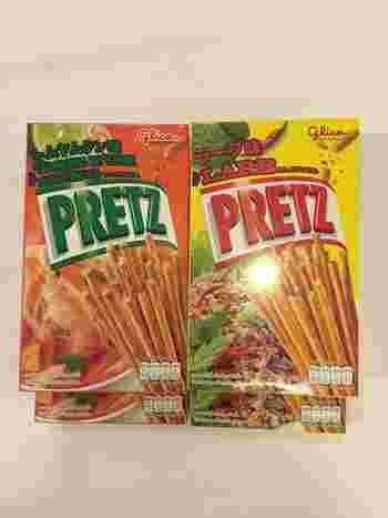 もはや定番になりつつある、タイ限定プリッツ・ラーブ味。  ラーブはお肉を使った、タイのサラダです。  このプリッツ、スパイシーで病みつきになる方が多いそうです。 私も何度か食べていますが、日本のプリッツにはない味わいとタイで味わった香辛料の味が一気に広がり、とても美味しかったです!  職場や家族へのお土産として、お土産話と一緒に手渡してみては?