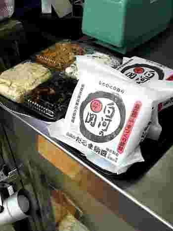 お豆腐だけでなく、がんもや豆乳、そしてお惣菜も売られています。忙しく食事作りが面倒な時は手作りお惣菜でチャチャっと済ませるのもいいですね。