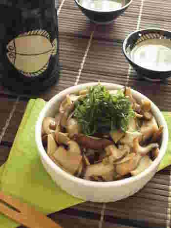 きのことわさびで、和風のココットカマンはいかが?醤油と出汁がきいた麺つゆ味で、日本酒に合う美味しさです。