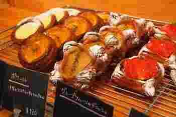 フルーツの産地ということもあり、田主丸のフルーツを使ったパンも人気です。