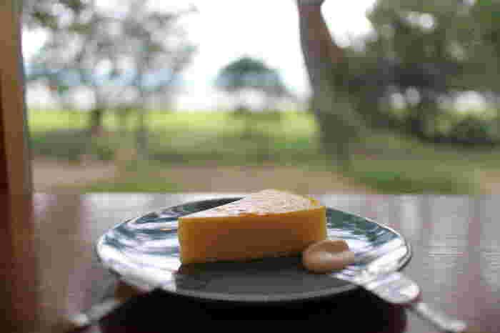 季節のフルーツタルトや、まったりコクのあるチーズケーキなど、美味しいスイーツとコーヒーと一緒に楽しむ琵琶湖の風景がなによりのご馳走です。心から元気になれそうな、この雰囲気を味わって下さい♪