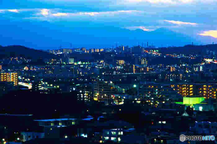 多摩丘陵の開発や自然破壊など、深いテーマが大人にも人気の「平成狸合戦ぽんぽこ」。舞台となった多摩ニュータウンは、東京都西南部の多摩丘陵に位置します。八王子市、町田市、多摩市、稲城市にわたるその広さは東西14km、南北2~3kmもあります。タヌキたちが人間たちの開発に驚き、息をのんだ街の夜景が見られる高台は、今ではデートスポットとしても人気です。