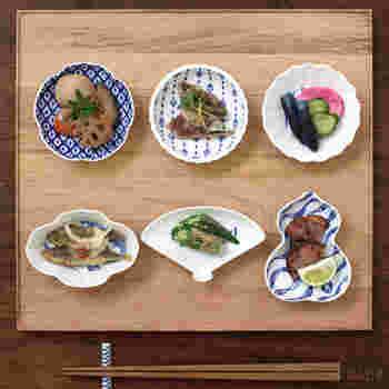 刺身、煮物、和え物、お漬物…ちょこっとずつが上品な晩酌セットは、目でも楽しめますね。