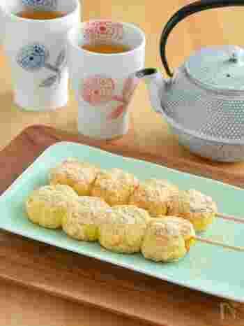 とうもろこしの素朴な甘さと、優しいきな粉の味がマッチした一品。渋いお茶と良く合いそうです◎フライパンで簡単に作れてしまうところも魅力です。おやつにどうぞ。