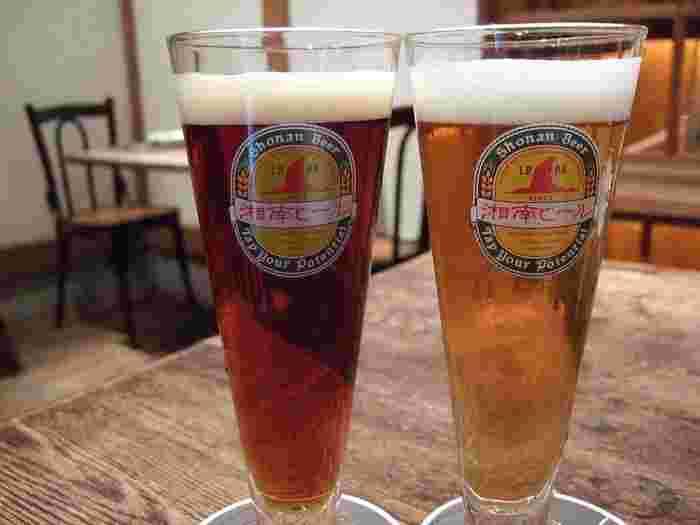 爽快感のある飲みやすさが特徴の「湘南ビール」は、無ろ過、非加熱処理で製造。フレーバーやアロマが楽しめるビールが多彩にそろっています。