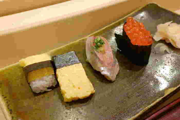 お子様も食べやすいメニューも豊富で、銀座で気軽に立ち寄ることができるお寿司屋さんです。