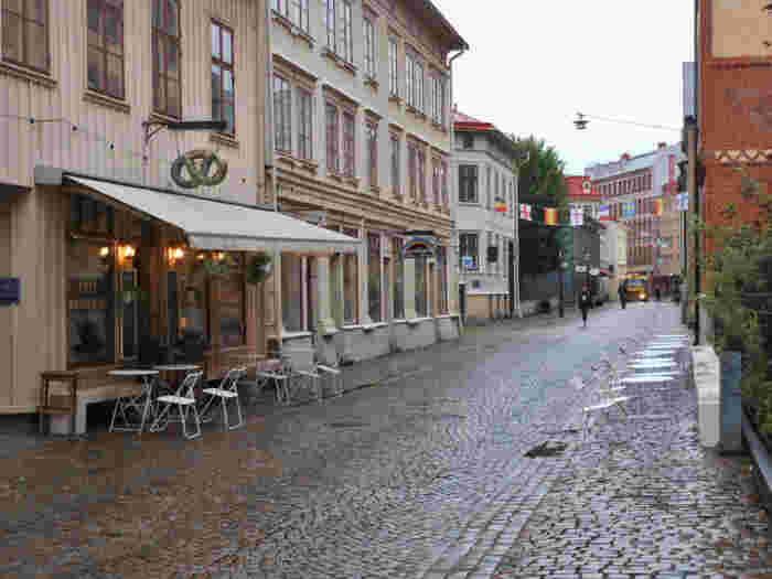 ハーガ(Haga)地区は、カフェやアンティーク雑貨屋さんなどのショップが集まるエリアです。