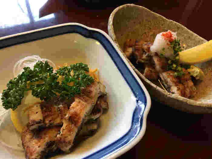 せいろ蒸しの他に「白焼酢の物」「白焼おろし」などのうなぎ料理も人気!シンプルな調理だからこそ、うなぎ本来の味わいが引き立った柳川の名物料理を味わってみませんか?
