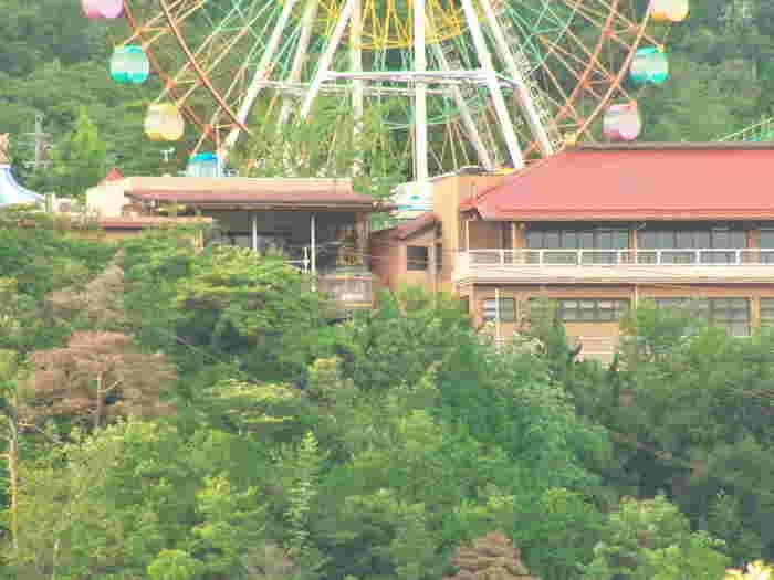 岐阜県「恵那峡」にある遊園地「恵那峡ワンダーランド」は、大自然渓谷の総合レジャーランド。 比較的小さなお子さま向けの乗り物などが多く、どこか懐かしいレトロな風情を残す遊園地です。 子ども・ファミリー向け遊具やアトラクションが30種以上、夏にはプール、さらにはディキャンプ、らく焼きなども楽しめる、お子さま連れには嬉しいスポット。 中でも、「恵那峡」のランドマークとも呼ばれる地上50mの大観覧車は、園内は勿論、周りの山々、恵那峡大橋や恵那峡の両岸にある奇岩などを見渡すことができ、見晴らし抜群です。