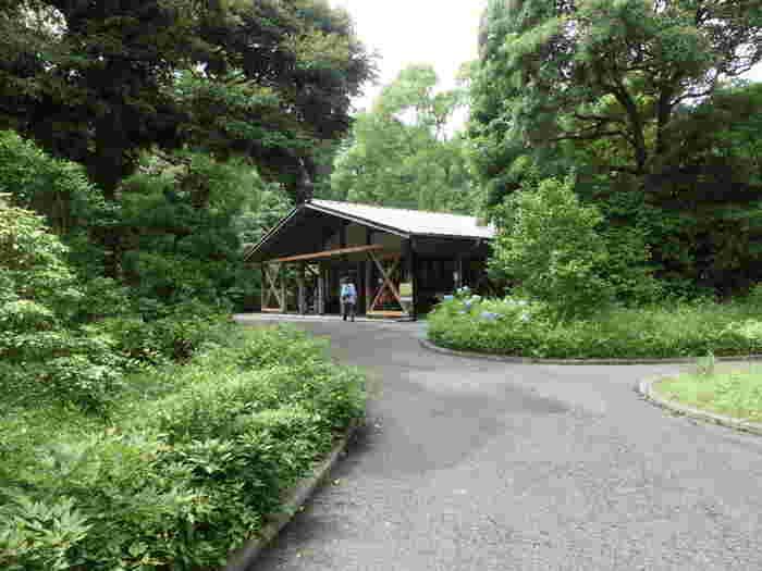 「大手休憩所」は、売店が併設の休憩所です。皇居ならではの菊の御紋入の記念品や土産菓子も購入できるので、ぜひ立ち寄ってみましょう。