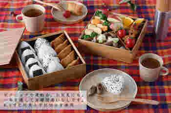 竹の食器などで知られる「公長齋小菅」の二段重箱。仕切りが選べるので、松花堂弁当のようにしたり、斜めに仕切ったり、アレンジが楽しめます。竹の自然な風合いが、普段使いやアウトドア用としてもなじみます。お料理のイメージもふくらみそう♪