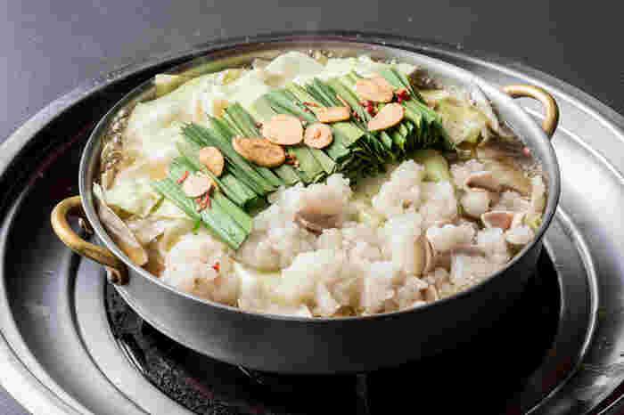 くさみのないモツは初心者にもトライしやすい味。鍋料理だけでなく、さまざまな牛肉料理も楽しめます。