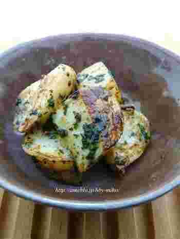長芋を焼いた時のシャキシャキの歯ごたえが美味しい一品。焼酎にもご飯にも合いそうです。