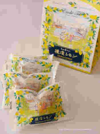 えの木ていで人気なのが、洋館にふさわしいパッケージデザインの「横浜レモン」。そのほかにもローズサブレやチェリーサンドなど、品よく甘いお菓子が取り揃えられています。