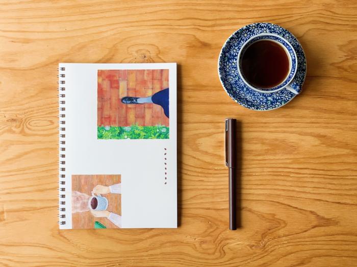 セッション申込者(チケット購入者)には、当日までに「招待状」「ワンドリップコーヒーパック」「ヴィーガンスイーツ」「キャンドル」「セッション用オリジナルノート」も届きます。