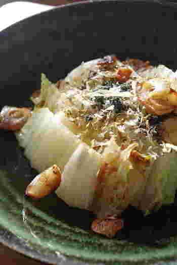 ちょっとおつまみが欲しい時にも便利!白菜の茎や外側を無駄なく使って作るステーキ♪
