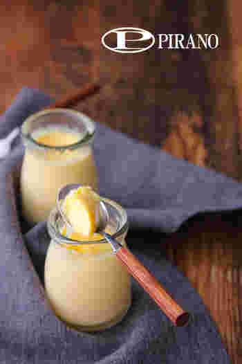卵と牛乳と砂糖だけで作るシンプルなプリン。シンプルな食材だけだからこそ「ほんもの」の味がします。