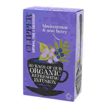 ■クリッパー ブラックカラント & アサイベリー ティー  食物繊維やアントシアニンが含まれたアサイベリーを、お茶で手軽に摂取♡お好みではちみつを加えても美味しくいただけます♪