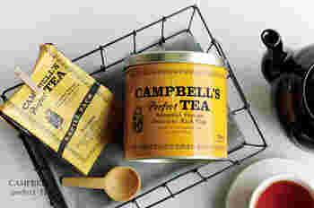 紅茶好きのお母さんには、たっぷり入った茶葉をプレゼントするのもいいですね。おしゃれなデザインの缶なら、見せるところに置いておけます。こちらはアイルランドの紅茶ブランド。ケニア産のアッサム種を改良した茶葉で、ミルクティーやアイスティーにおすすめです。