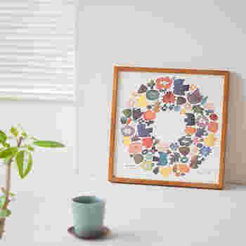 温かい印象のBIRDS' WORDSのポスター。カラフルなのでお部屋が華やぎますね。少し寂しいと思う空間に飾ってみてはおいかがでしょうか。