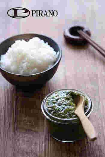 フキ味噌をイメージして作られた、香り豊かな菜の花味噌。ごはんにのせたり、生野菜につけてもおいしい。春になったら作りたい一品ですね。