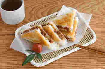 パンを挟む他に、ご飯を挟めば焼きおにぎりも楽しめます。カリッと食感の焼きおにぎりを手軽に。