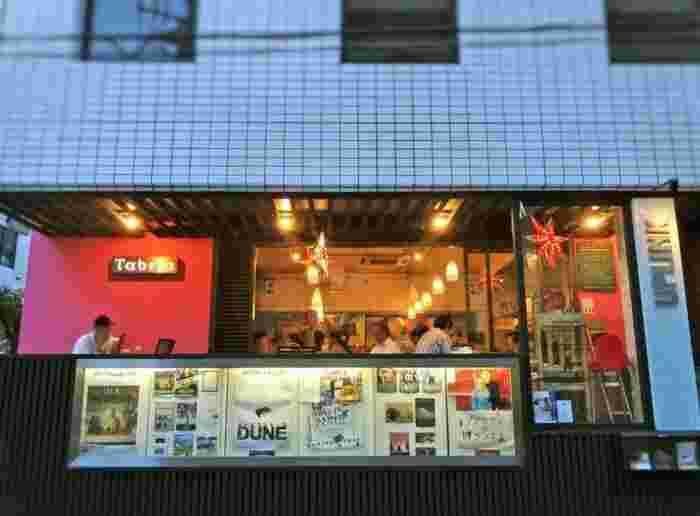 映画製作と配給・上映を行うUPLINK(アップリンク)が併営するカフェレストラン「タベラ」。