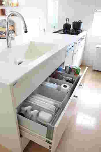 キッチンやシンク下収納は、使い勝手の良い収納がキマるとなかなか手を付けない場所でもありますよね。年末以来お掃除してないかも…というお家は多いかもしれません。