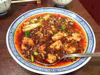 1番人気の麻婆豆腐。山椒がぴりりと効いて、その辛さがクセになります。辛さは選べるそうなので、お好きな辛さで挑戦してみてください。