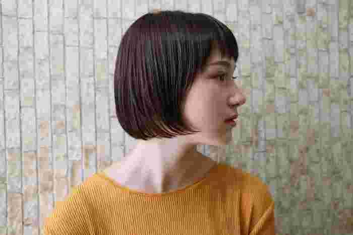 前髪とサイドを自然につなげるカットで、ソフト&さっぱりとした印象に。お行儀よく正面に向けられた毛先がチャーミング。