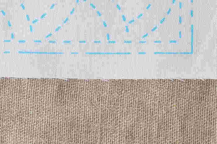 既成の柄からはじめたいという方は、縫い線として日本の伝統的な柄がプリントされている「夢ふきん」がおすすめ。