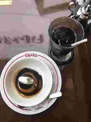 『プリン』と『アイスコーヒー』。