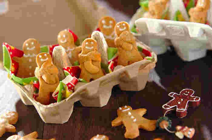 ナッツをハグしている、なんとも可愛いジンジャーマンのクッキー。細かい説明つきで分かりやすいレシピです。簡単に可愛いジンジャークッキーが出来上がります。