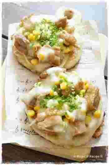 チキン×いももちの相性抜群レシピです。 とろけたチーズがまたおいしいです。 ボリュームたっぷりなので、おなかも満足ですよ。
