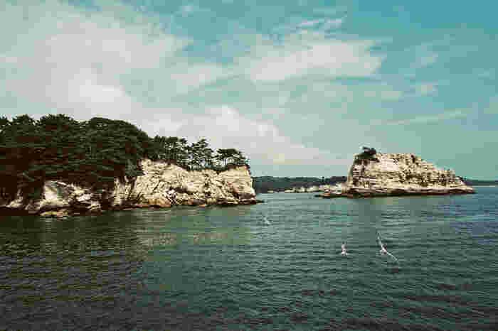 周辺観光地には「松島海岸」があります。約260の島が点在する海の景色は日本三景に数えられる程の絶景です。