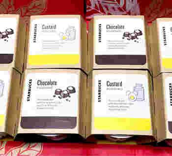 同じ味より、カスタードとチョコを数個ずつ買う人も多いようです。大量買いによって品薄状態なのかも?