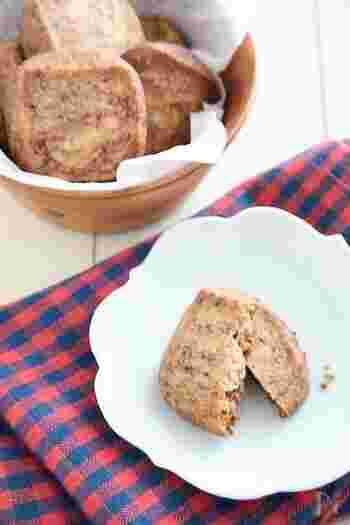 材料たったの3つ!ホットケーキミックス、ココア、バターのみで作れるお手軽焼き菓子。粉類を常備しておけば、いつでもおいしいおやつを作れます。