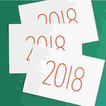 こちらはカレンダーでもご紹介したノリタケさんデザインの年賀はがき。シンプルですがインパクトのある年賀はがきです。