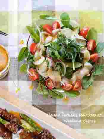和風仕立てのカルパッチョには、柚子胡椒やわさびがよく使われます。オリーブオイルと合わせますので、お刺身とはまた違ったおいしさが楽しめます。
