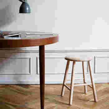 背もたれのない1人掛けの椅子の【スツール】と椅子やソファーの前に置いて使う足乗せ用ソファーの【オットマン】。背もたれがないので圧迫感が少なく、お部屋の雰囲気を邪魔せずおしゃれに見せてくれます。