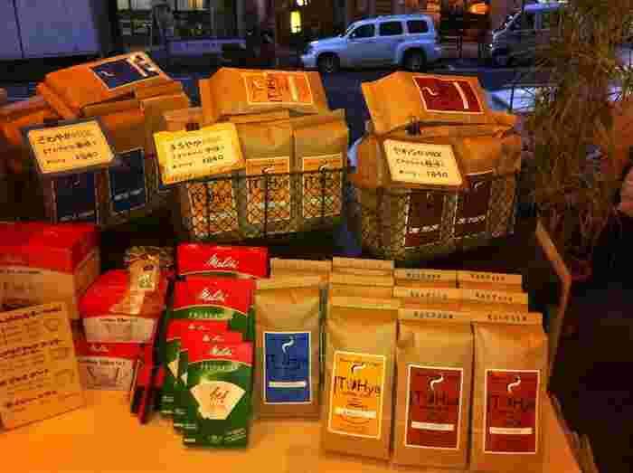 オリジナルコーヒーの販売もあるので、お家でもイトウヤのコーヒーが楽しめますね。