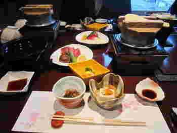 お食事も評判がよく、いくつかのコースから選ぶことができます。