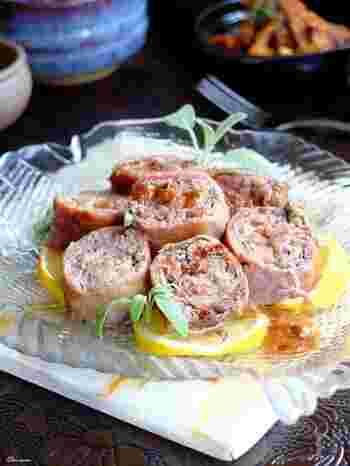 このレシピでは切り落としの生ハムでも手軽に作れるように、牛肉と一緒にロール状に巻き込んで作ります。素材の味を大切に調味料は少なめに。だからこそお肉本来の味を楽しめる本格的なイタリア料理に近いレシピですね。