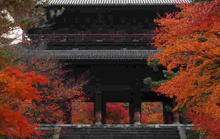 先に塔頭の「金地院」「天授庵」を案内しましたが、旅のハイライトはやはり「南禅寺」。 「南禅寺」は、臨済宗南禅寺派の大本山。鎌倉後期に亀山天皇が造営した離宮を寺に改めた大寺で、義満の時代には「五山之上」位となり、禅宗の最高位を誇った格式高い寺院です。【11月下旬の南禅寺「三門」】