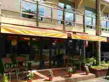 宮崎神宮の目の前にある「LE CAFE DU Bonheur」は、1階がカフェで、2階が「paris cinq」というフレンチです。宮崎産の果物などを使用し、素材や技術にこだわって作られたケーキは味も見た目も評判です。