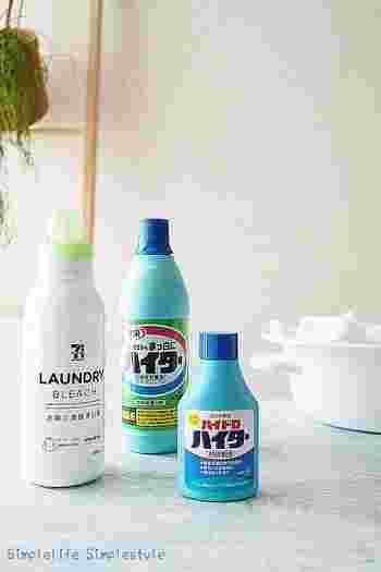 また、衣服用の漂白剤として知られる「ワイドハイター」も酸素系漂白剤のひとつ。  ちなみにハイターにはいろいろな種類があり、塩素系漂白剤の「ハイター」や還元系漂白剤の「ハイドロハイター」などもありますので、商品の内容を確認してから選びましょう。  洗濯機掃除には、洗濯槽用のハイターをチェックしてくださいね。もしくは、「ワイドハイター」の「粉末タイプ」なら、洗濯機掃除にも活用することができます。過炭酸ナトリウムが含まれていて、泡が立つため、この泡が洗濯槽の汚れを落とすのに活躍してくれるんですよ。