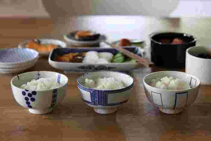 古き良き日本の「道具」を、現代に使いやすいデザインにマッチさせる「東屋(あずまや)」によるお茶碗。どっしりとした形で、見た目以上に容量があります。