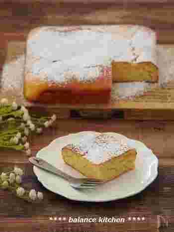 太白ごま油とヨーグルトを入れる事で乳脂肪を補えるので、バターなしでもしっとり食べ応えのあるケーキが作れます。